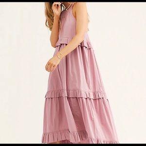 FREE PEOPLE Anita Midi Pink Dress
